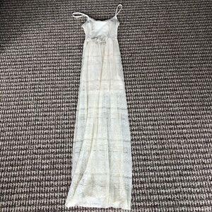 Cream lace Hollister maxi dress